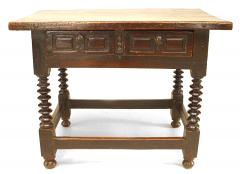 English Renaissance Walnut Table Desk - 1429051