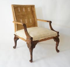 English Rococo Style Gainsborough Library Chair Manner of Giles Grendey - 788846