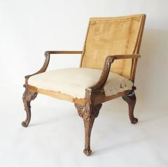 English Rococo Style Gainsborough Library Chair Manner of Giles Grendey - 788862