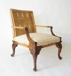 English Rococo Style Gainsborough Library Chair Manner of Giles Grendey - 788863