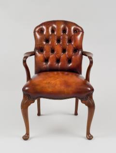 English Shepherds Crook Leather Armchair - 1244348