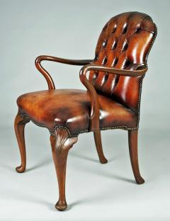 English Shepherds Crook Leather Armchair - 1244351