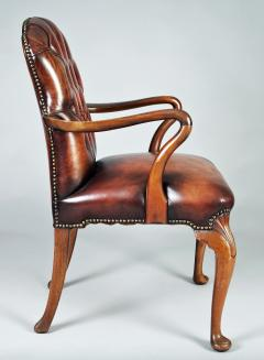 English Shepherds Crook Leather Armchair - 1244353