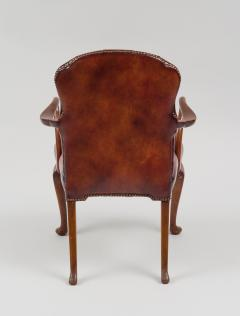 English Shepherds Crook Leather Armchair - 1244354