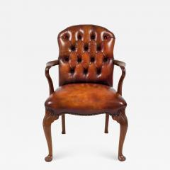 English Shepherds Crook Leather Armchair - 1245641