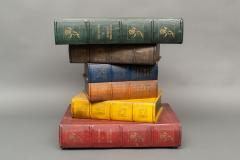 English Side Table in the Shape of Stacked Books - 1771234