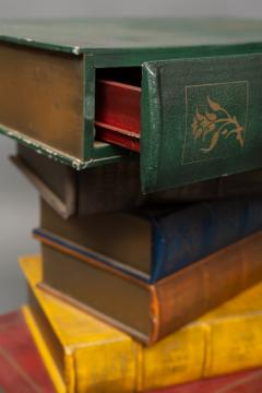 English Side Table in the Shape of Stacked Books - 1771243