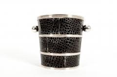 English Silver Plated Barware Crocodile Wine Cooler or Ice Bucket - 1131245