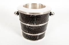 English Silver Plated Barware Crocodile Wine Cooler or Ice Bucket - 1131247