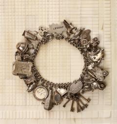 English Sterling Charm Bracelet - 1914681