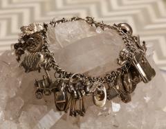 English Sterling Charm Bracelet - 1914682