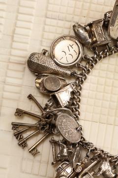 English Sterling Charm Bracelet - 1914683