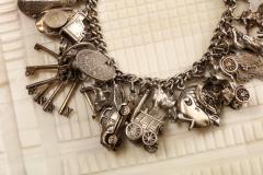 English Sterling Charm Bracelet - 1914684