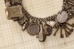 English Sterling Charm Bracelet - 1914686