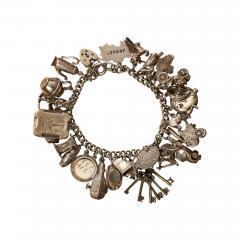 English Sterling Charm Bracelet - 1917833