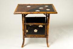 English Table with Lacquer Japanning Eggshell Design and Bamboo - 1564222
