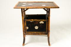 English Table with Lacquer Japanning Eggshell Design and Bamboo - 1564247