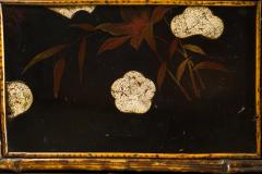 English Table with Lacquer Japanning Eggshell Design and Bamboo - 1564255