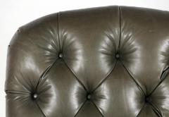 English Tufted Leather Side Chair - 2071351