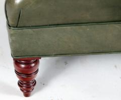 English Tufted Leather Side Chair - 2071353