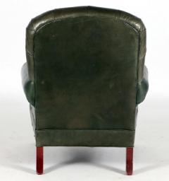 English Tufted Leather Side Chair - 2071355