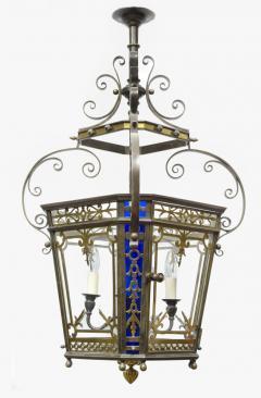 English Victorian Bronze Lantern - 103257