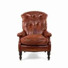 English Victorian Leather Easy Chair - 1404212