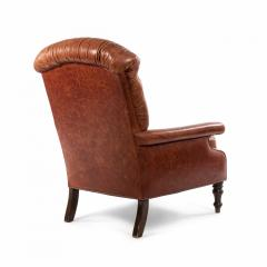 English Victorian Leather Easy Chair - 1404215