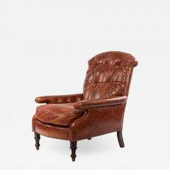 English Victorian Leather Easy Chair - 1407948