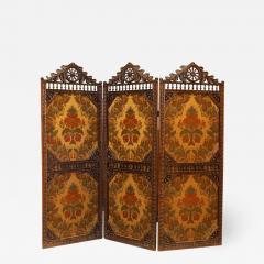 English Victorian Walnut 3 Fold Screen - 1393899