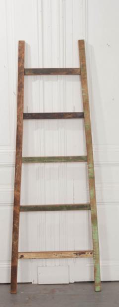 English Vintage Painted Farm Ladder - 1395077