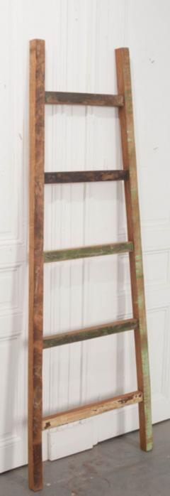 English Vintage Painted Farm Ladder - 1395078