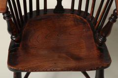 English Yew Wood Hoop Back Windsor Armchair - 627287