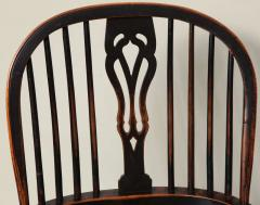 English Yew Wood Hoop Back Windsor Armchair - 627288