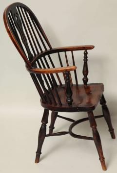 English Yew Wood Hoop Back Windsor Armchair - 627289