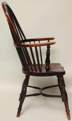 English Yew Wood Hoop Back Windsor Armchair - 627292