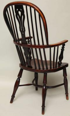 English Yew Wood Hoop Back Windsor Armchair - 627293