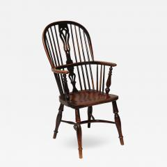 English Yew Wood Hoop Back Windsor Armchair - 628156