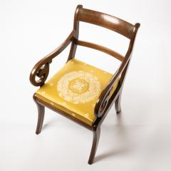 English mahogany arm chair with upholstered seat - 1718705