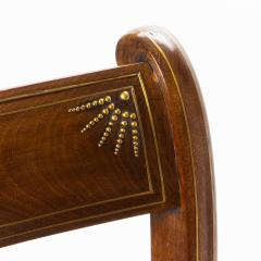 English mahogany arm chair with upholstered seat - 1718706