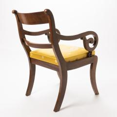 English mahogany arm chair with upholstered seat - 1718708
