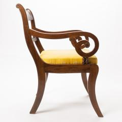 English mahogany arm chair with upholstered seat - 1718709