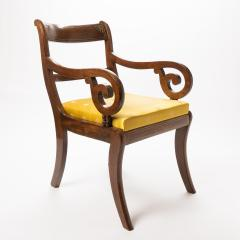 English mahogany arm chair with upholstered seat - 1718710