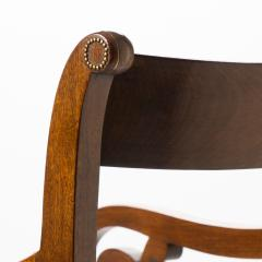 English mahogany arm chair with upholstered seat - 1718712