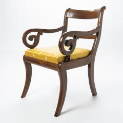 English mahogany arm chair with upholstered seat - 1718714