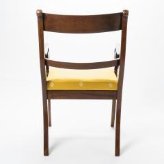 English mahogany arm chair with upholstered seat - 1718716