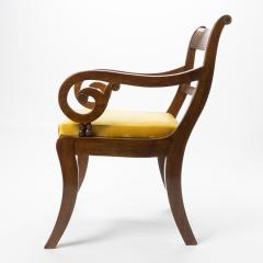 English mahogany arm chair with upholstered seat - 1718717