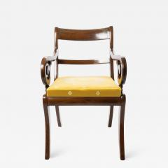 English mahogany arm chair with upholstered seat - 1719469
