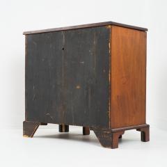 English mahogany knee hole dressing table - 1723811
