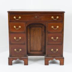 English mahogany knee hole dressing table - 1723812